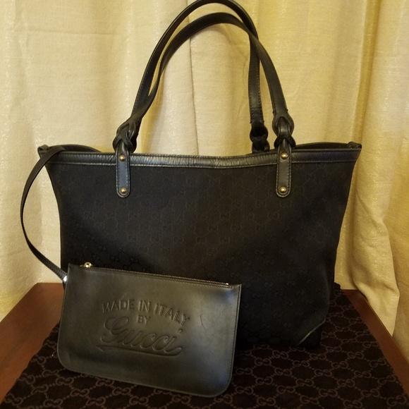 Gucci Handbags - Gucci Black Canvas Craft Tote